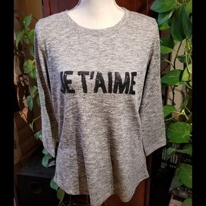 """NWT NYDJ """"I Love You"""" 3/4 Sleeve Length Sweater"""